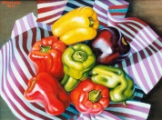 Peppers on Stripes